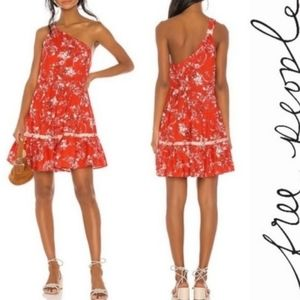 Free People Floral One Shoulder Dress New With Tag